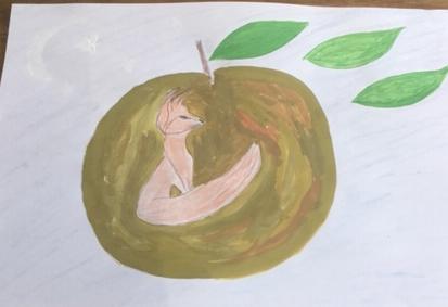 Trish painting